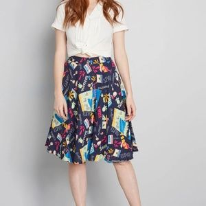 ModCloth Women's NWT Just This Sway A-Line Skirt
